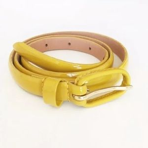 J. Crew Yellow Mustard Belt Patent Leather